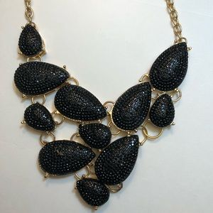 "Black statement necklace 16"""